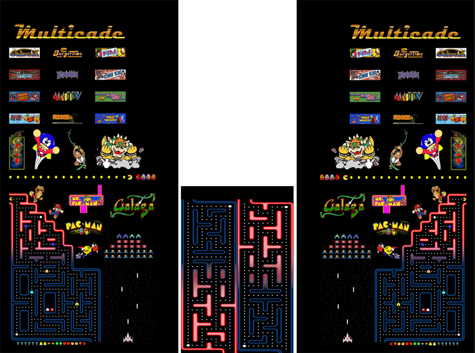 New Multicade Full Sideart/Kickplate Set