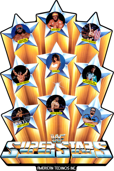 New WWF Superstars Sideart Set: Super Stars